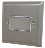 Deco Plate Satin Nickel Fan Isolator Switches